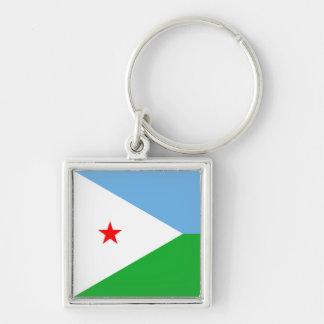 ジブチの旗Keychain キーホルダー
