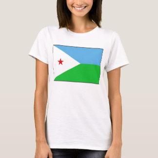 ジブチの旗Xの地図のTシャツ Tシャツ