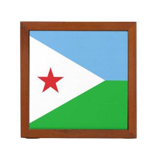 ジブチの机のオルガナイザーの旗 ペンスタンド