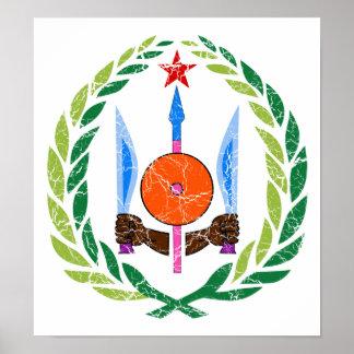 ジブチの紋章付き外衣 ポスター