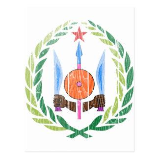 ジブチの紋章付き外衣 ポストカード