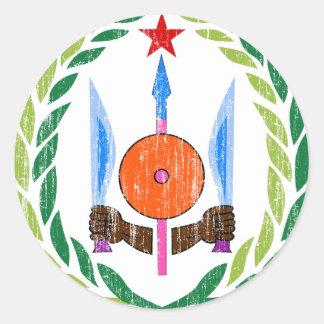 ジブチの紋章付き外衣 ラウンドシール