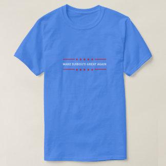 ジブチを素晴らしく再度させて下さい Tシャツ