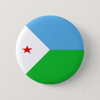 ジブチFisheyeの旗ボタン 5.7cm 丸型バッジ
