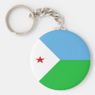 ジブチFisheyeの旗Keychain キーホルダー