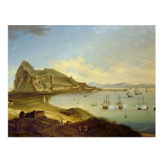 ジブラルタルで着く青い艦隊の海軍大将 はがき