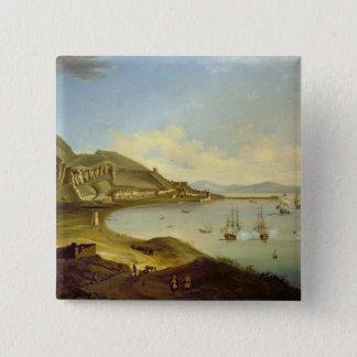 ジブラルタルで着く青い艦隊の海軍大将 5.1CM 正方形バッジ