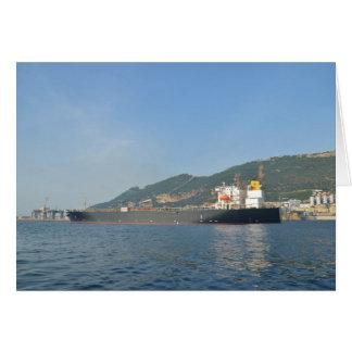 ジブラルタルに入る貨物船 カード