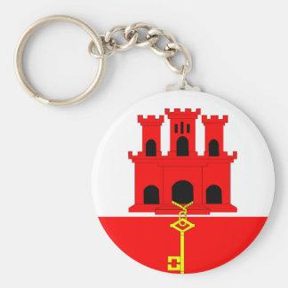 ジブラルタルの国の長い旗の国家の記号共和国 キーホルダー