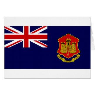 ジブラルタルの政府の旗 カード