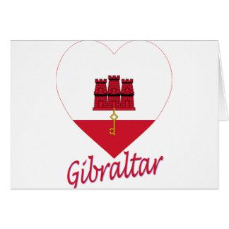 ジブラルタルの旗のハート カード