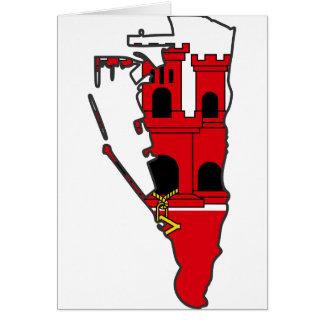 ジブラルタルの旗の地図のGI カード