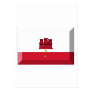ジブラルタルの旗の宝石 ポストカード