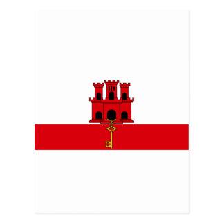ジブラルタルの旗のGI ポストカード