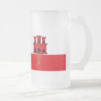 ジブラルタルの旗 フロストグラスビールジョッキ