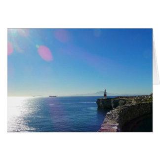 ジブラルタルの灯台からのアフリカの眺め カード