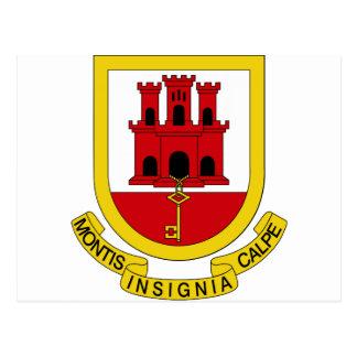 ジブラルタルの紋章付き外衣 ポストカード