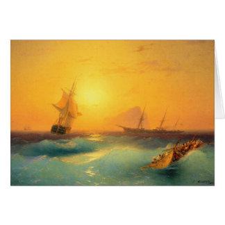 ジブラルタル1873年の石を離れてアメリカの出荷 カード