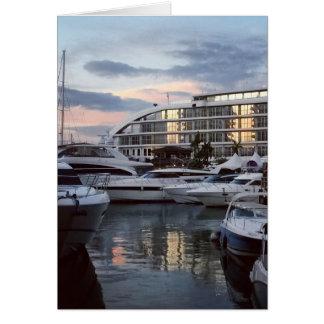ジブラルタル-海の村1 (K.Turnbullの芸術) カード