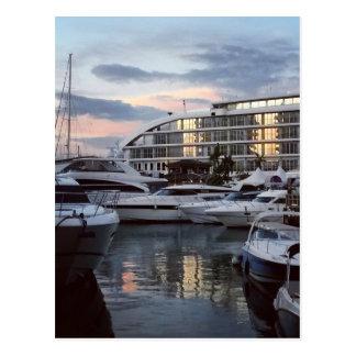 ジブラルタル-海の村1 (K.Turnbullの芸術) ポストカード
