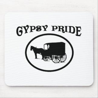 ジプシーのプライドの黒く及び白いキャラバン マウスパッド