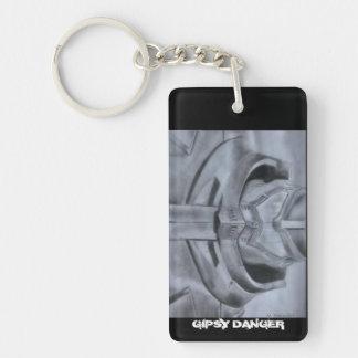 ジプシーの危険環太平洋地域Keychain 長方形(片面)アクリル製キーホルダー