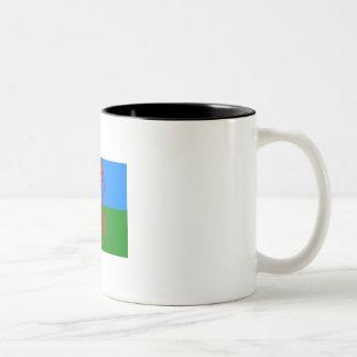 ジプシーの握りこぶしのコーヒー・マグ ツートーンマグカップ
