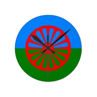ジプシーの旗の時計 ラウンド壁時計