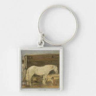 ジプシーの馬、c.1885-90 (キャンバスの油) キーホルダー