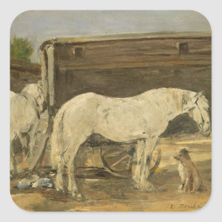 ジプシーの馬、c.1885-90 (キャンバスの油) スクエアシール