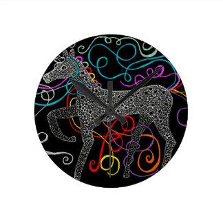 ジプシー完全な魔法のユニコーン ラウンド壁時計