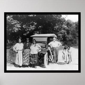 ジプシー家族および車1925年 ポスター