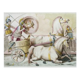 「ジプシー」のCostumi deiからのローマのCharioteers、engr ポストカード