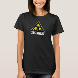 ジムイエス・キリストの暗い女性のティー Tシャツ