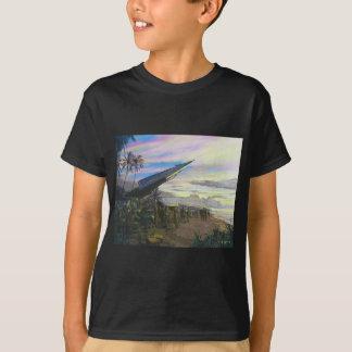 ジムDietz著Kahukuの生きている火 Tシャツ