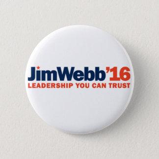 """ジムWebb 2016のキャンペーンボタン- 2.25""""円形 5.7cm 丸型バッジ"""