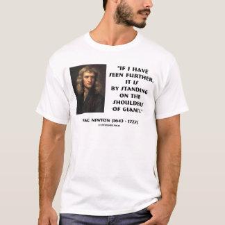 ジャイアンツの肩に立っているニュートン Tシャツ