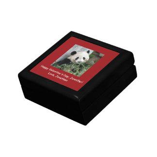 ジャイアントパンダのバレンタインデーのギフト用の箱、赤いトリム ギフトボックス