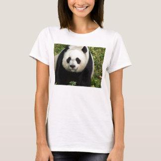 ジャイアントパンダの次々に顔レディースベビードールのワイシャツ Tシャツ