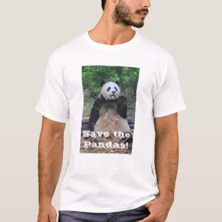 ジャイアントパンダのTシャツを救って下さい Tシャツ