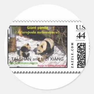 ジャイアントパンダTaiのシャン族およびMei Xiang Washington D.C. ラウンドシール
