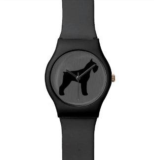 ジャイアント・シュナウザーのシルエット 腕時計