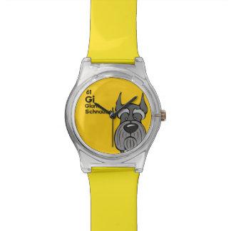 ジャイアント・シュナウザー-犬のテーブル 腕時計