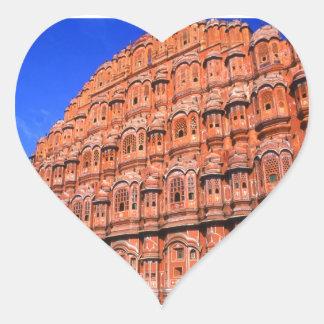 ジャイプルインドの風宮殿 ハートシール
