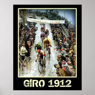 ジャイロのスポーツ・ファンの自転車を循環させる1912年のヴィンテージ ポスター