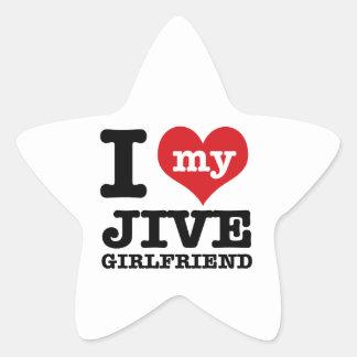 ジャイヴのダンスのガールフレンドのデザイン 星シール
