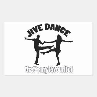 ジャイヴのダンスのデザイン 長方形シール