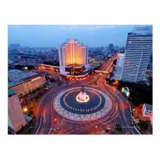 ジャカルタの都市景観 ポストカード