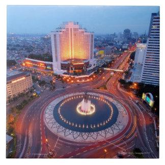 ジャカルタの都市景観 正方形タイル大
