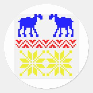 ジャカードセーターパターン ラウンドシール